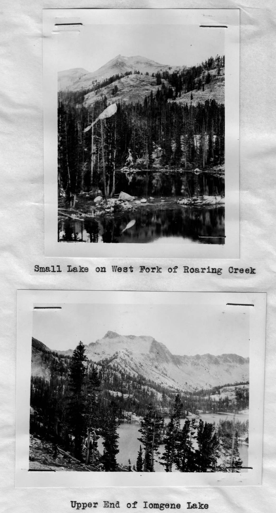 item thumbnail for Imogene Lake and small lake near West Fork of Roaring Creek