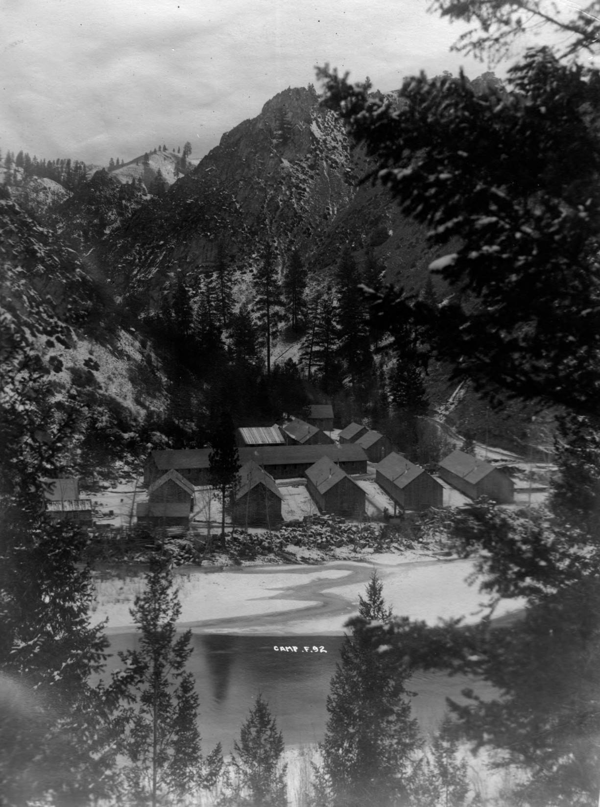 item thumbnail for CCC Camp F-92 in winter