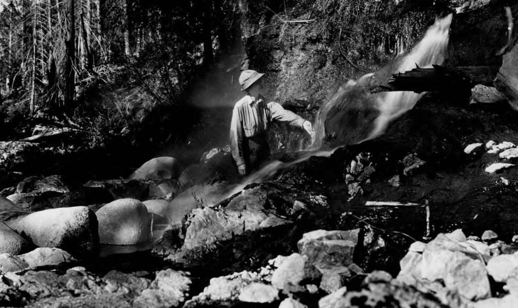 item thumbnail for Man at hot springs at Warm Springs Creek