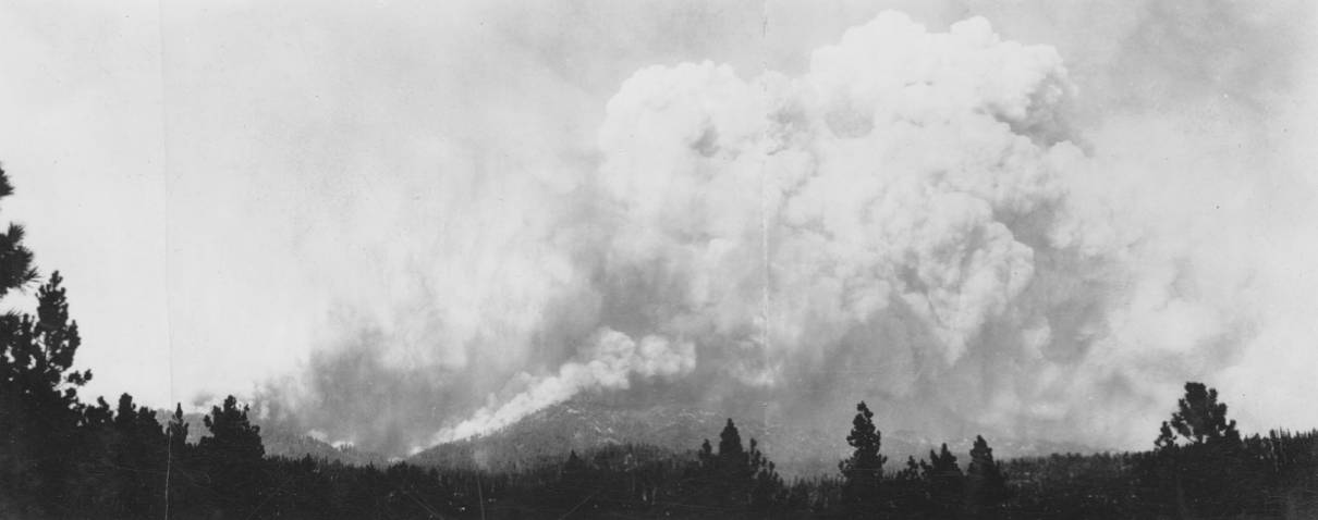 item thumbnail for Clouds of Chaos', smoke from Elk Creek fire
