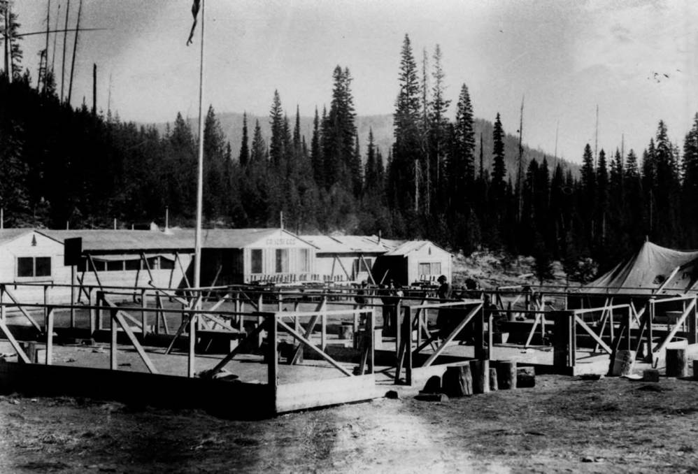 item thumbnail for Dismantling Packers Meadow CCC Camp, tent bases
