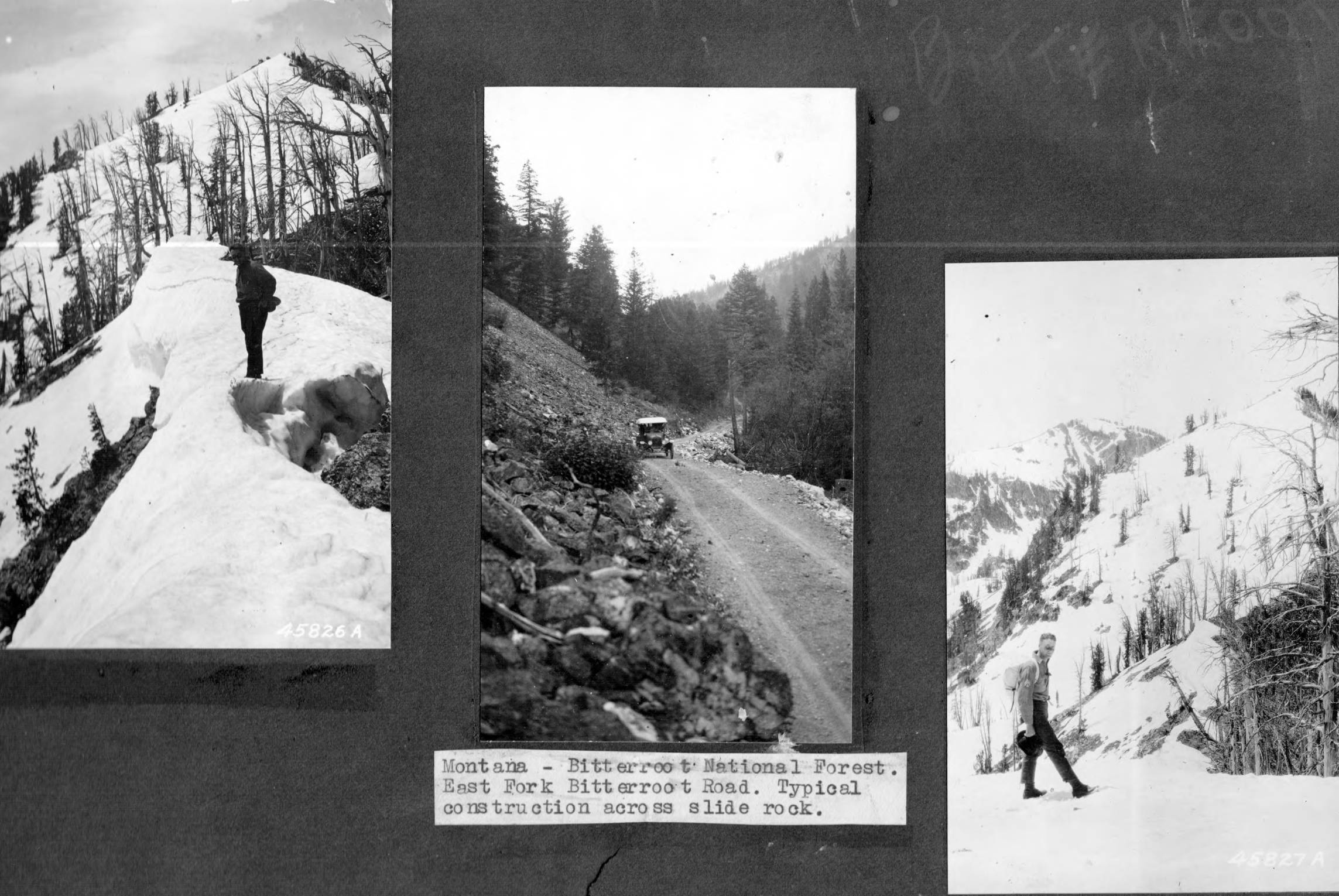item thumbnail for Scenes form Bitterroot National Forest trail survey and construction