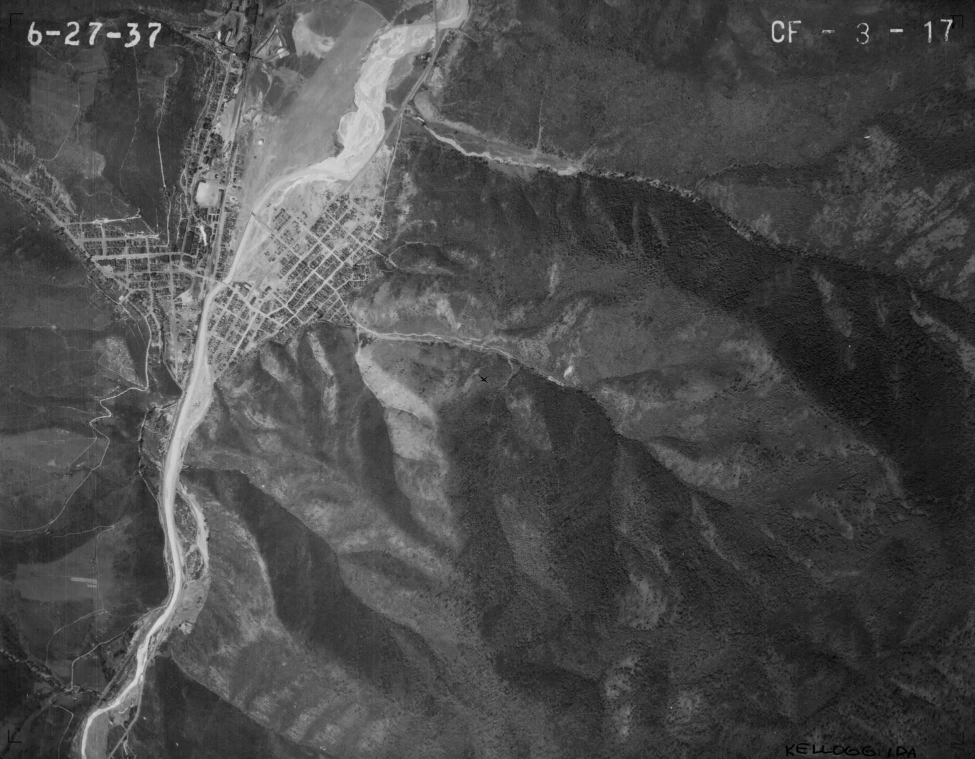 item thumbnail for Kellogg, Idaho, vertical aerial (CF-3-17)
