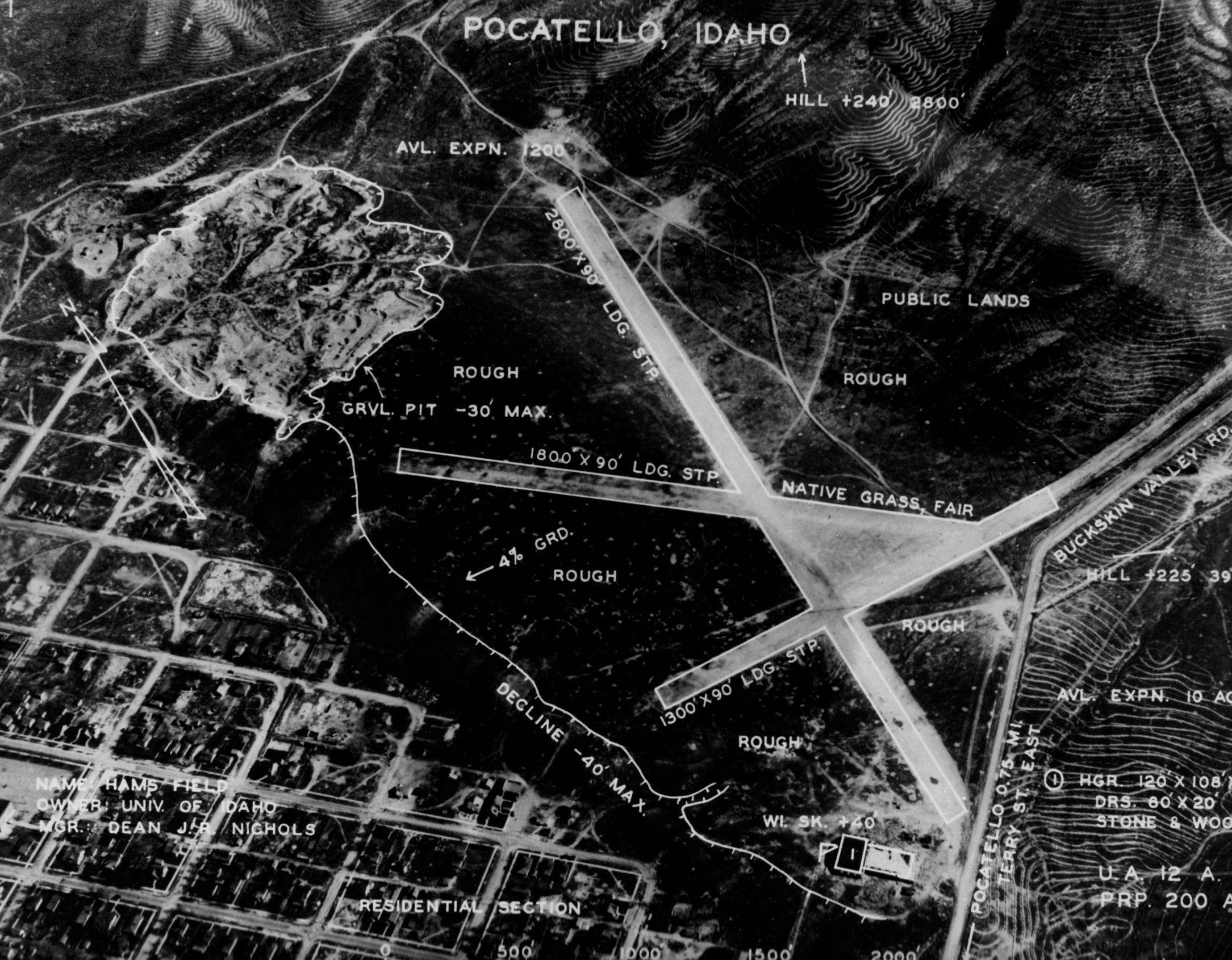 item thumbnail for Aerial survey of Ham's Field also known as University Airport