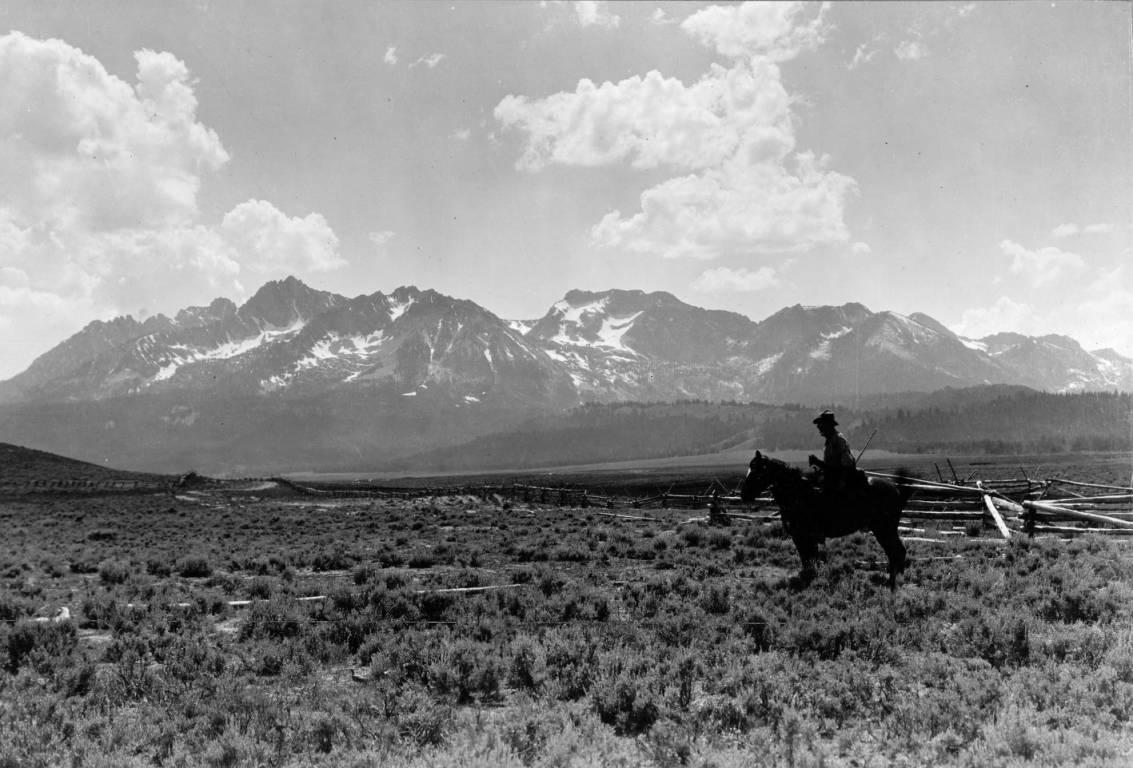 Cowboy in Stanley basin from https://www.lib.uidaho.edu/digital/archivalidaho/items/archivalidaho265.html