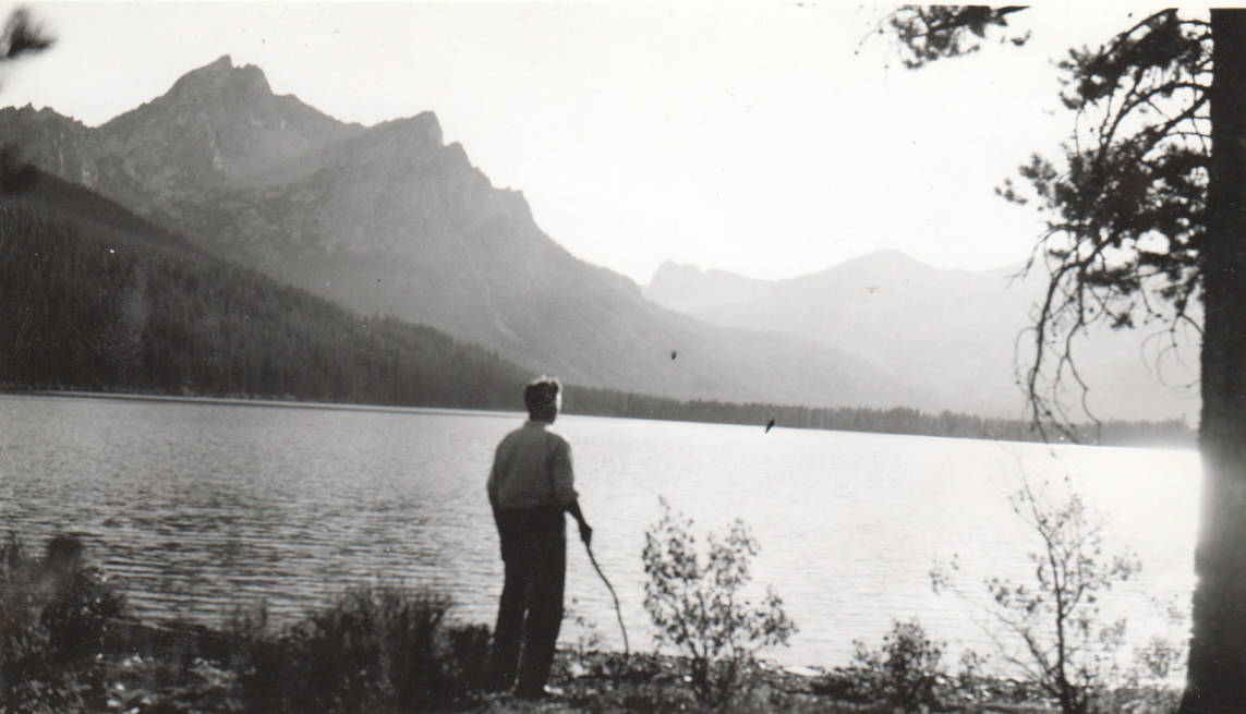 item thumbnail for Man stands near Stanley Lake
