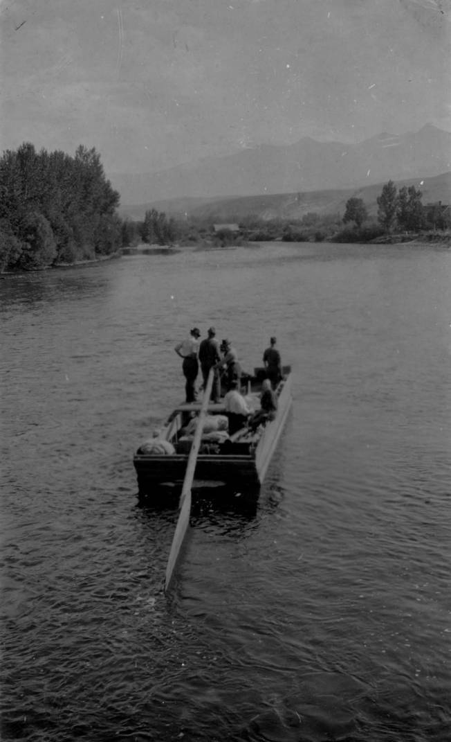 item thumbnail for Captain Guleke and small craft on Salmon River