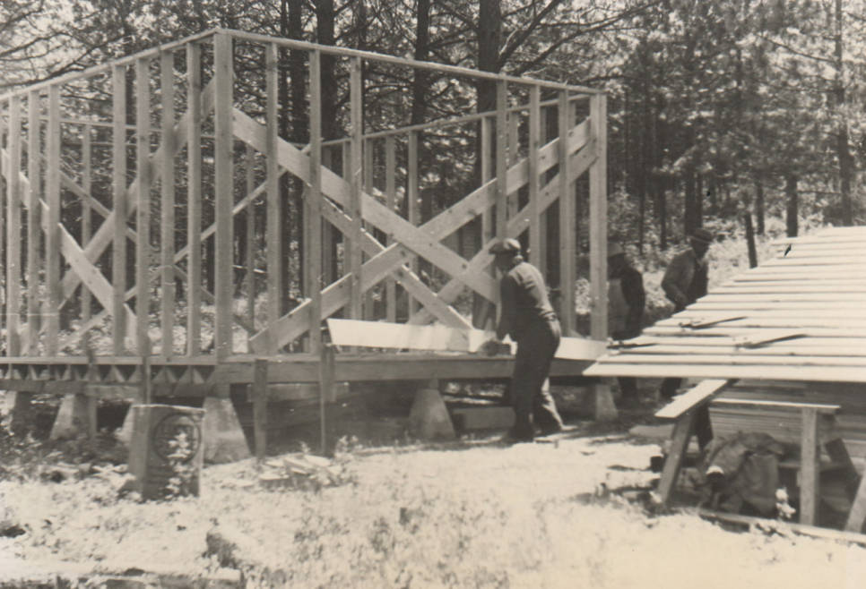 item thumbnail for Cold Spring Reserve Forest Guard Cabin construction