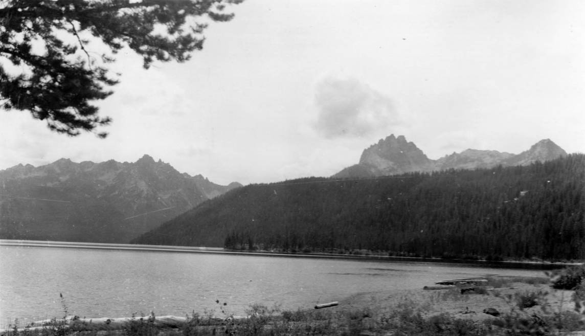 item thumbnail for Sawtooth Mountains, looking west from Red Fish Lake