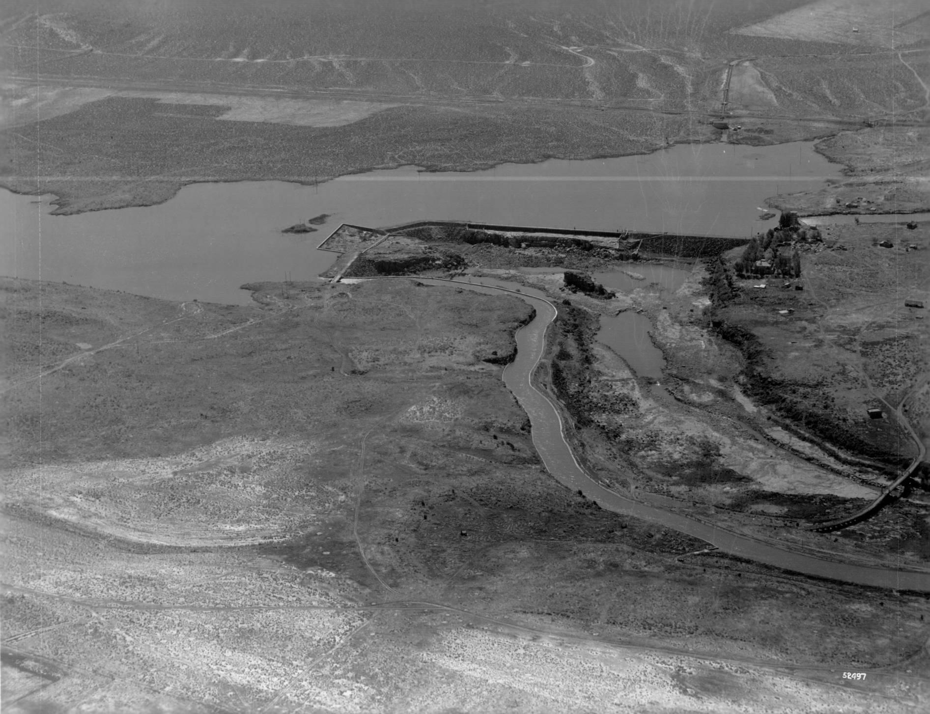 item thumbnail for Reclamation Service Dam, near Rupert below Minidoka Dam