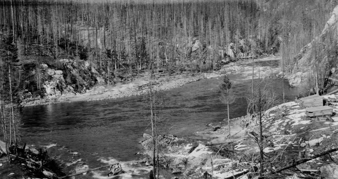 item thumbnail for Bungalow Ranger Station site and North Fork River