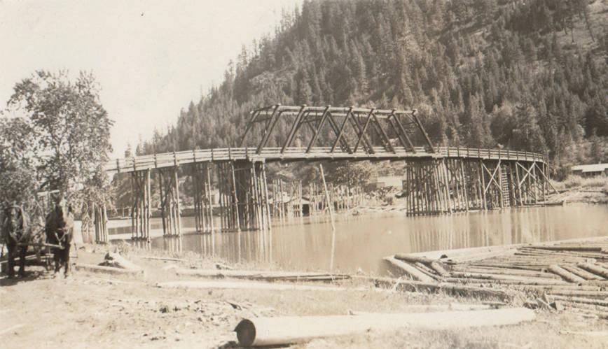 item thumbnail for Springston Log Bridge, Kootenai County