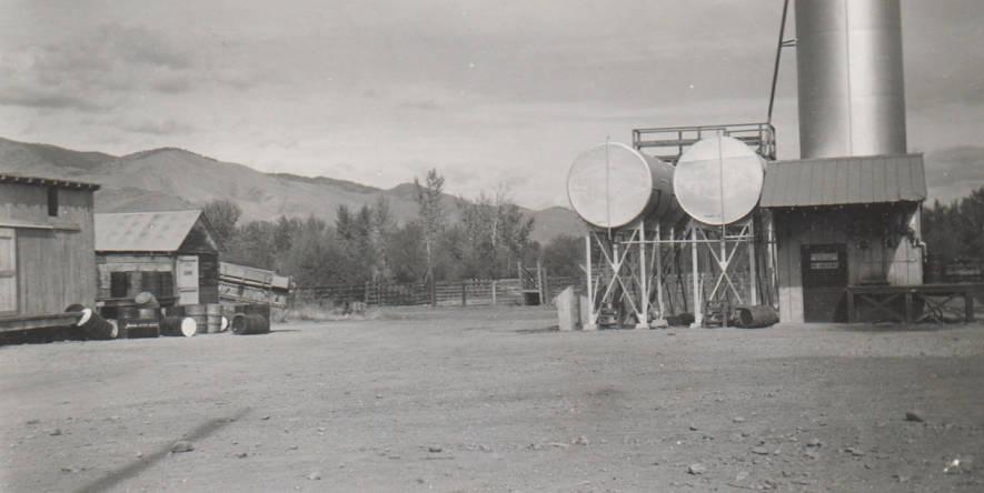 item thumbnail for Oil storage and warehouse, Salmon City, Idaho
