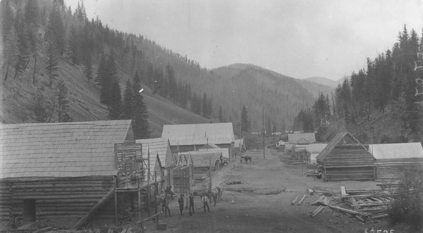 item thumbnail for Roosevelt, the metropolis of the Thunder Mountain district, Monumental Creek Canyon