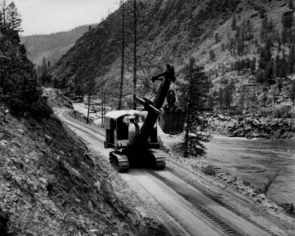 item thumbnail for Steam shovel arriving at French Creek