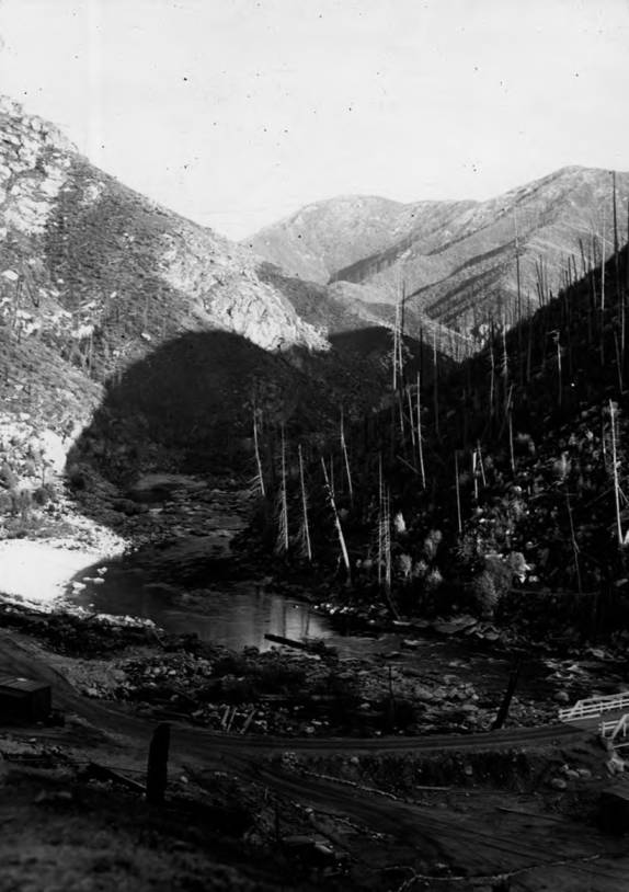 item thumbnail for Bungalow Ranger Station, from upstream near CCC Camp