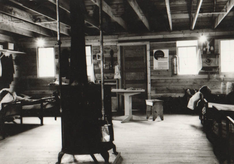 item thumbnail for Wallace Flood Camp, mess hall and stove