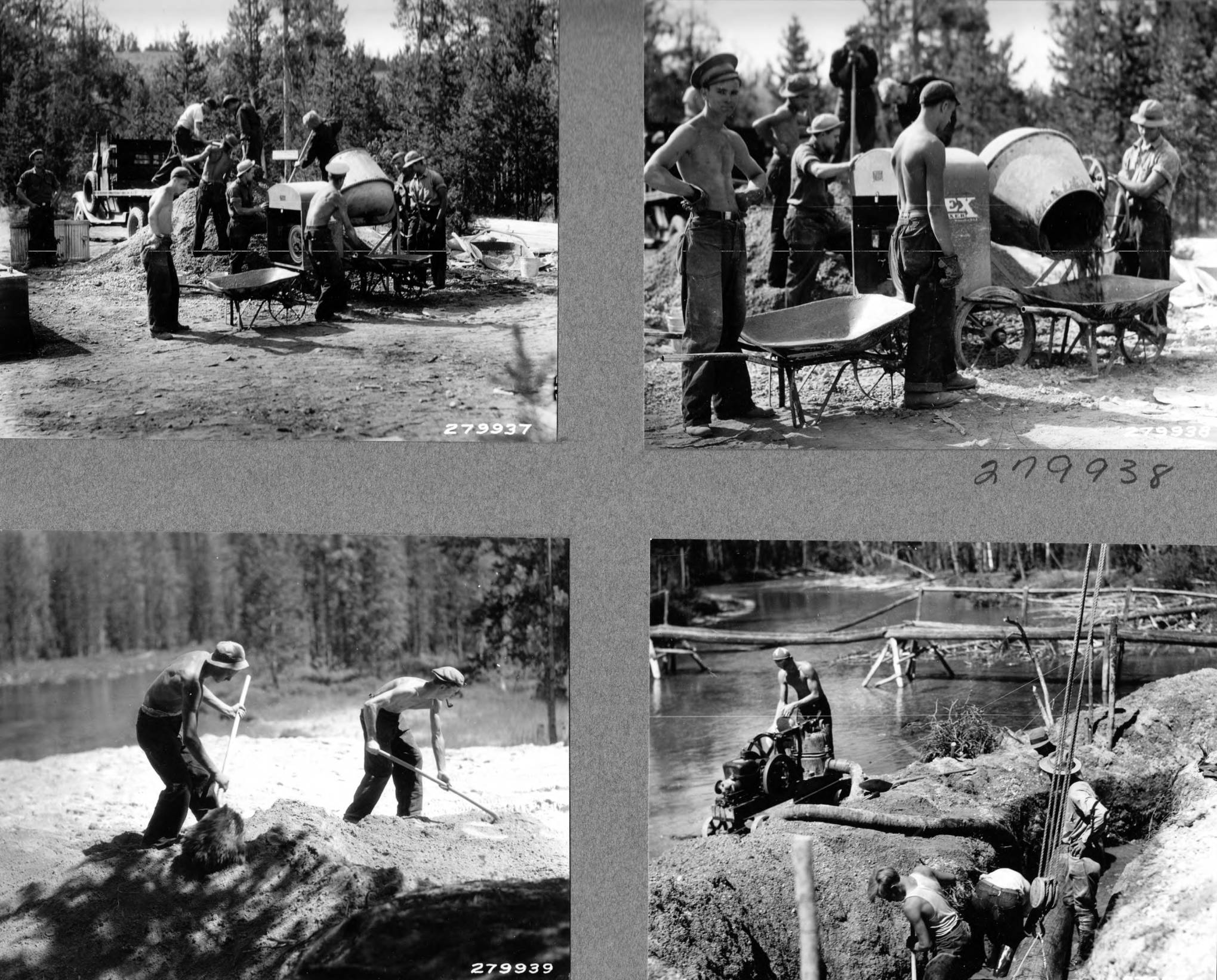 item thumbnail for Work scenes from Sawtooth National Forest