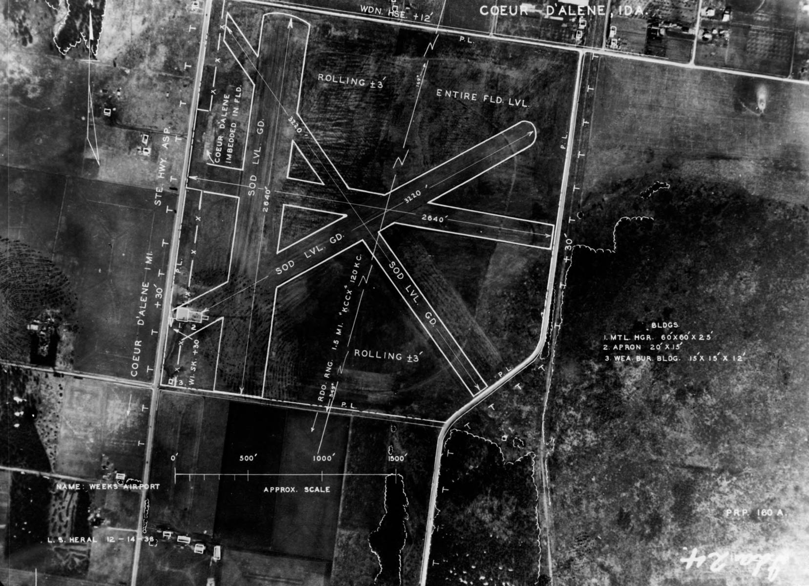 item thumbnail for Aerial survey of Weeks Field site, Coeur d'Alene