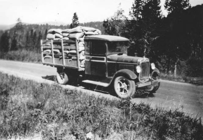item thumbnail for Station truck on road loaded with poisoned grain