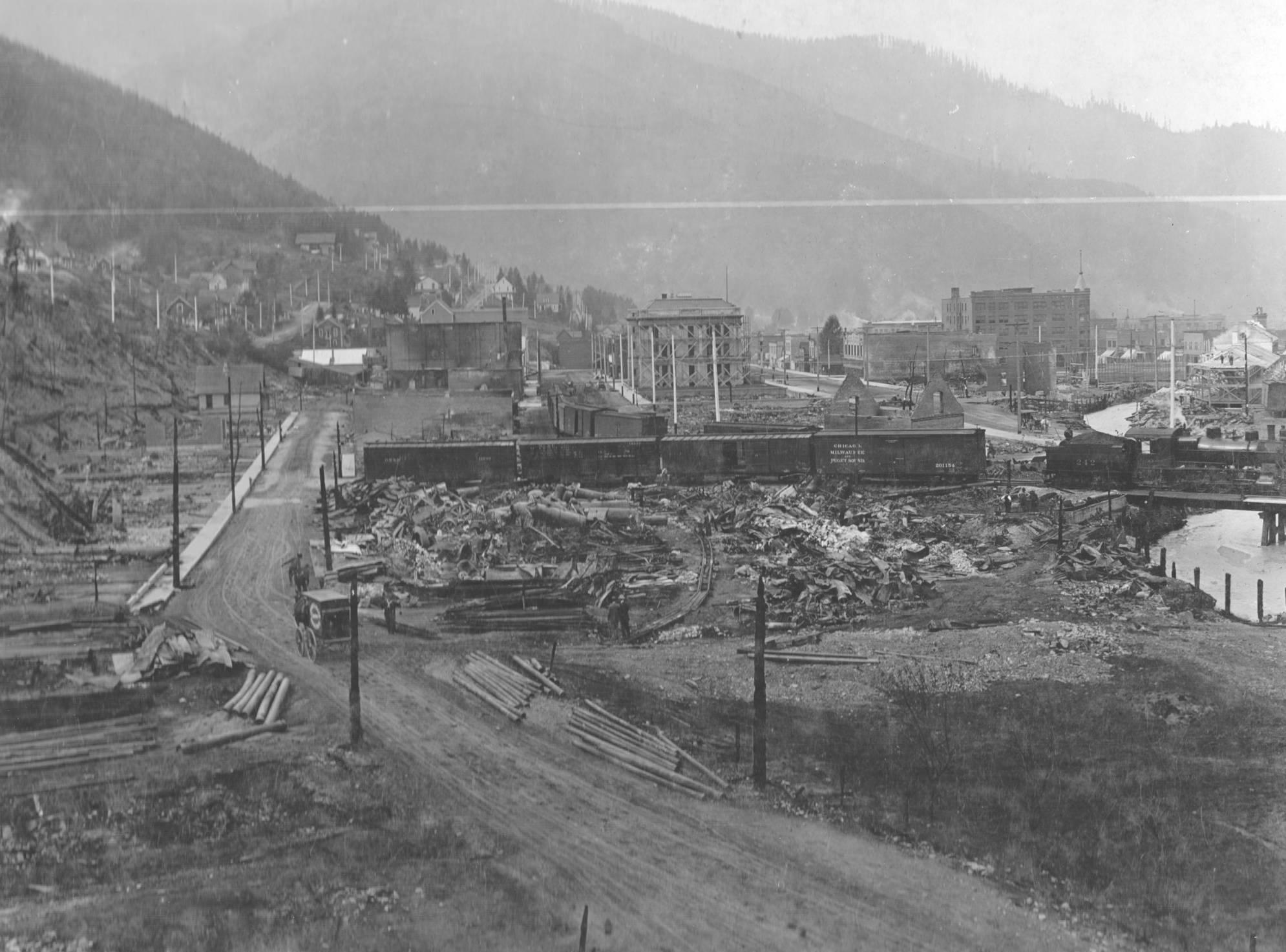 item thumbnail for Wallace, Idaho after Big Burn