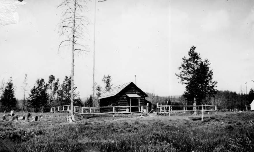 item thumbnail for Chamberlain Ranger Station, main building and fences