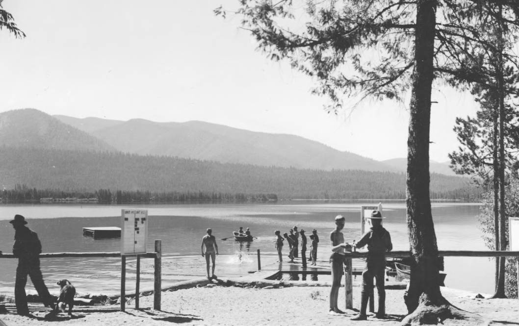 item thumbnail for Scouts swimming at Billy Rice Camp, Warm Lake