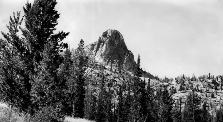 item thumbnail for Granite Peak at head of Wilson Creek in Crags country