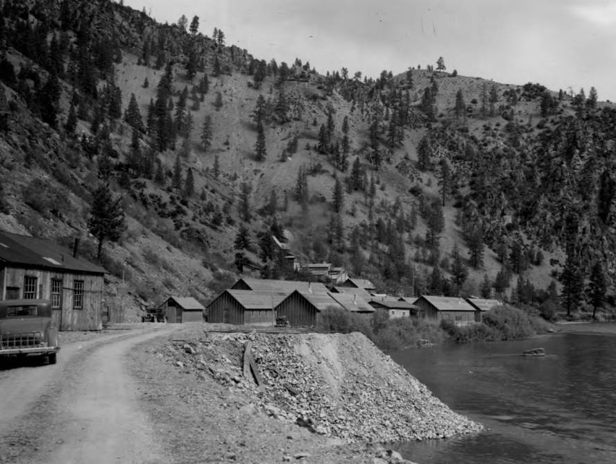 item thumbnail for CCC Camp F-103 on Salmon River below Shoup near Pine Creek