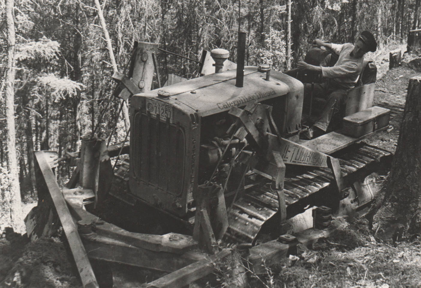 item thumbnail for Bulldozer Operator clearing the Tramway Trail