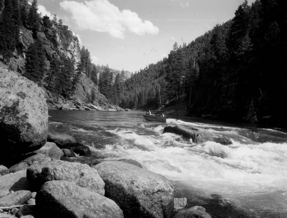 item thumbnail for Forest Service River Patrol boat above Salmon Falls