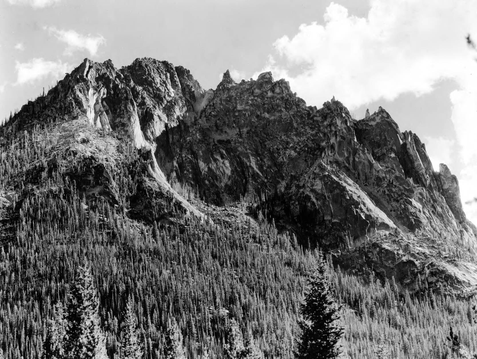 item thumbnail for A photograph of a ridge south of Red Fish Lake.
