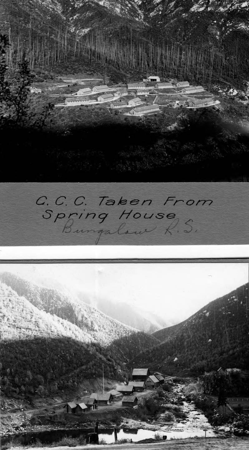 item thumbnail for CCC Camp taken from Spring house