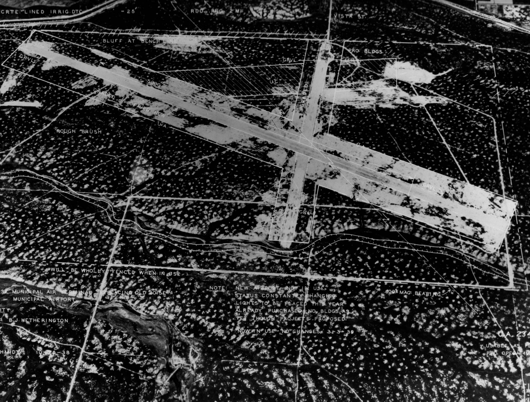 item thumbnail for Aerial survey of original Boise Airport, high relief