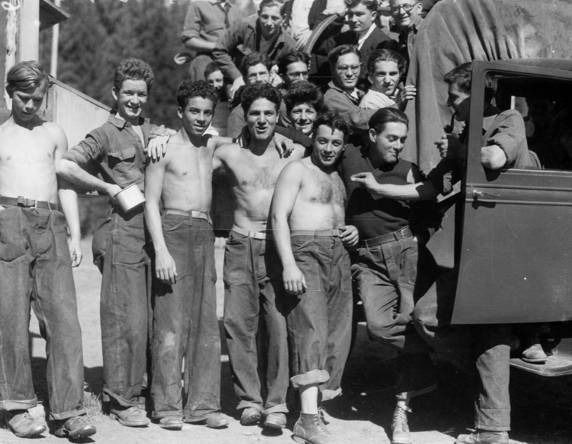 item thumbnail for CCC camp F-42, group photo