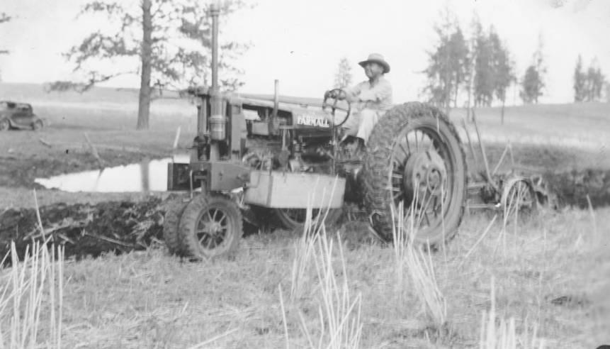 item thumbnail for Farm Chapter President plows field