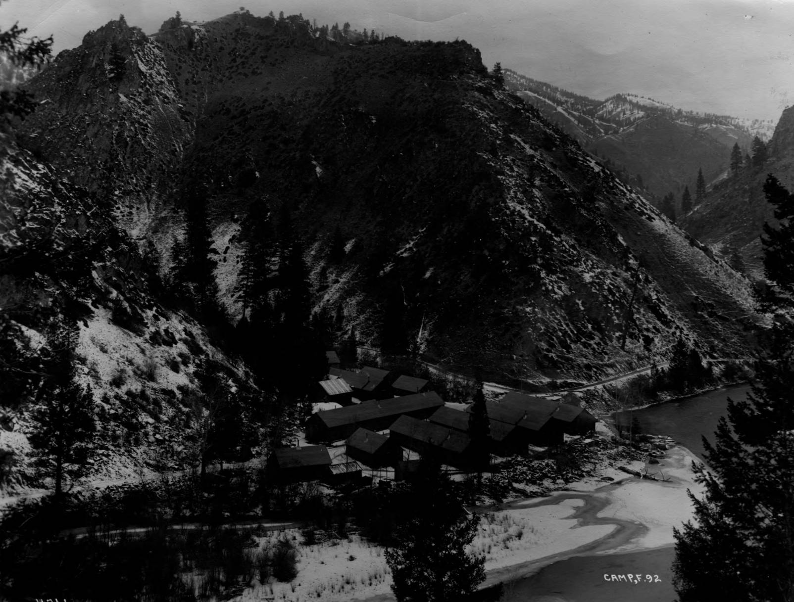 item thumbnail for CCC Camp F-92 in winter, from ridge