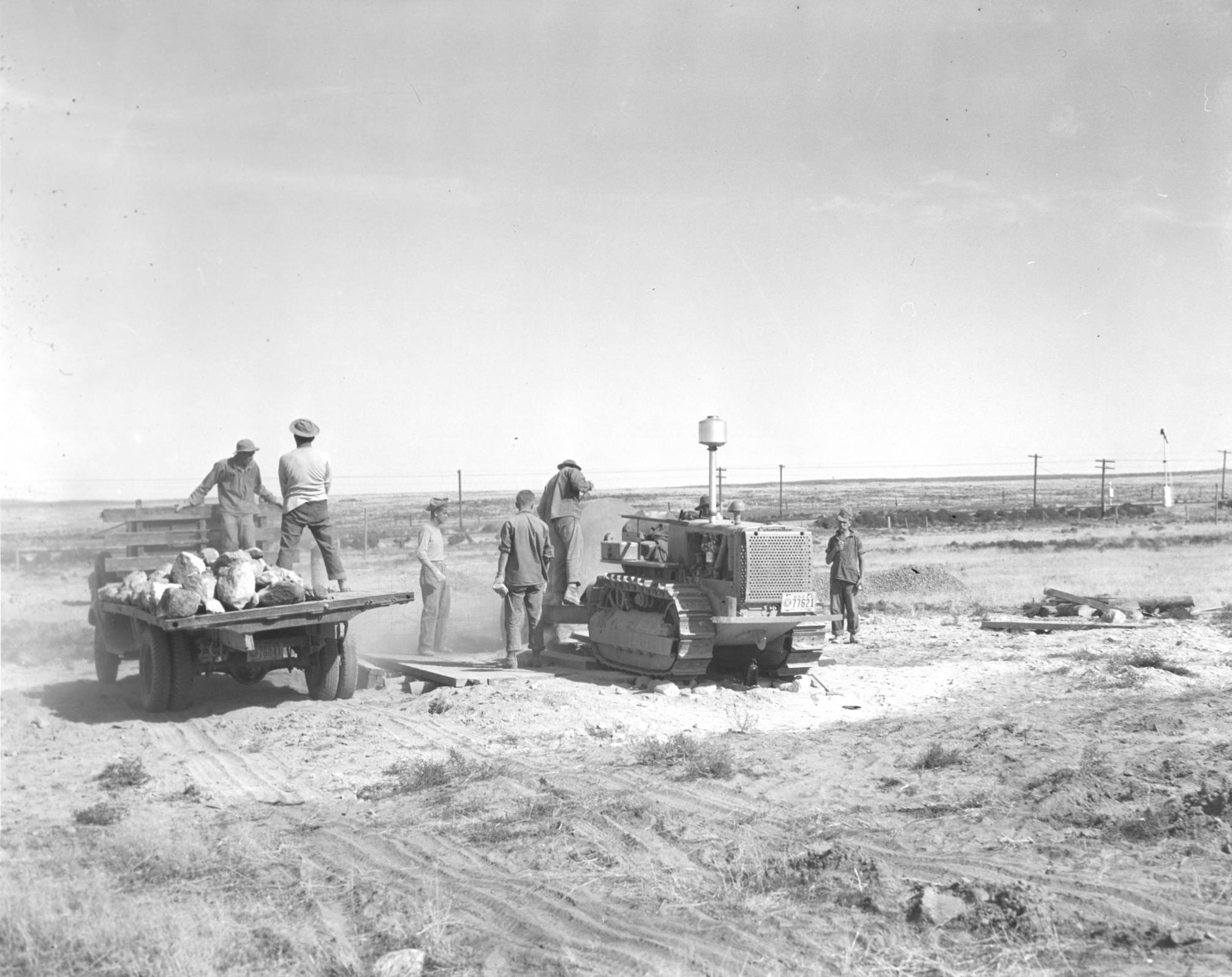 item thumbnail for CCC workers remove large rocks