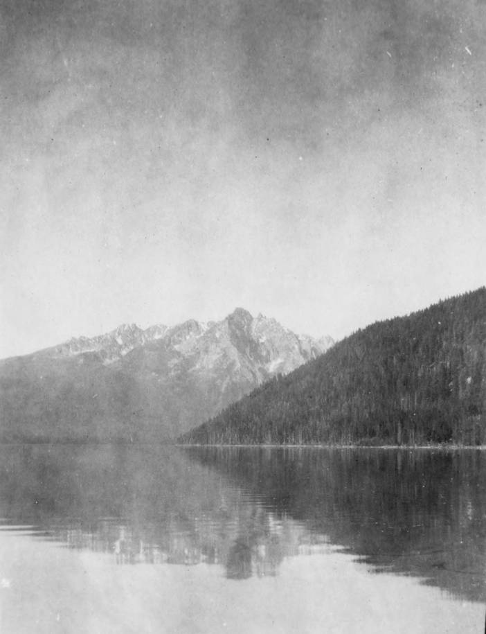 item thumbnail for Red Fish Lake and Sawtooth Range from Hayburn Forest Service camp