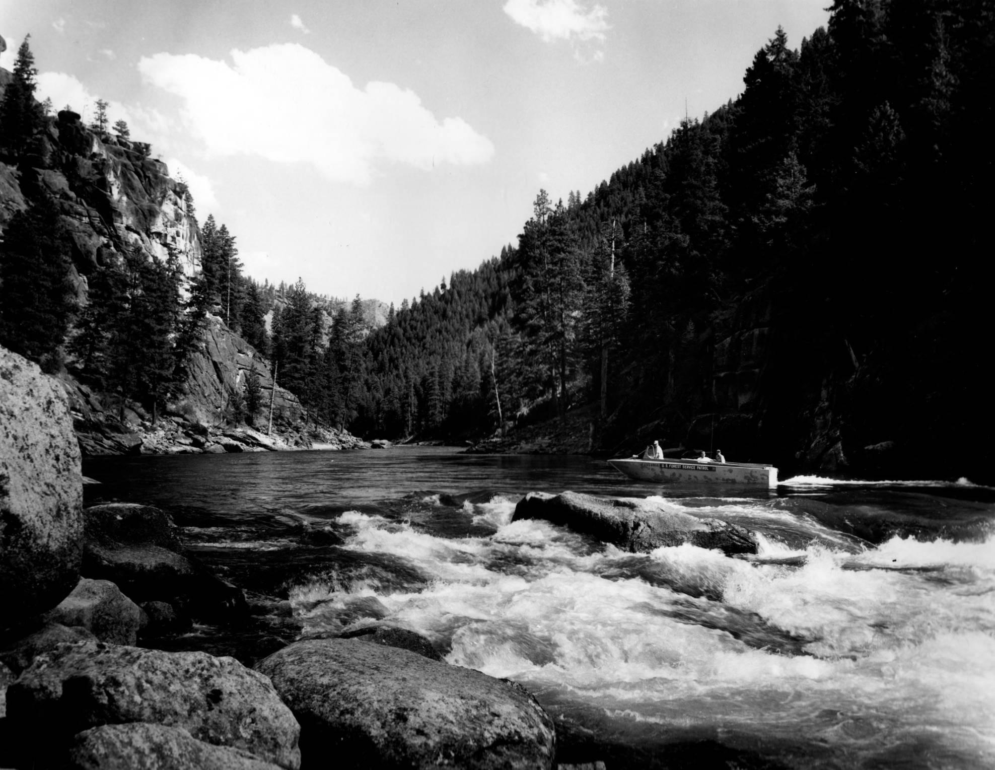 item thumbnail for Boat at Salmon Falls, upstream
