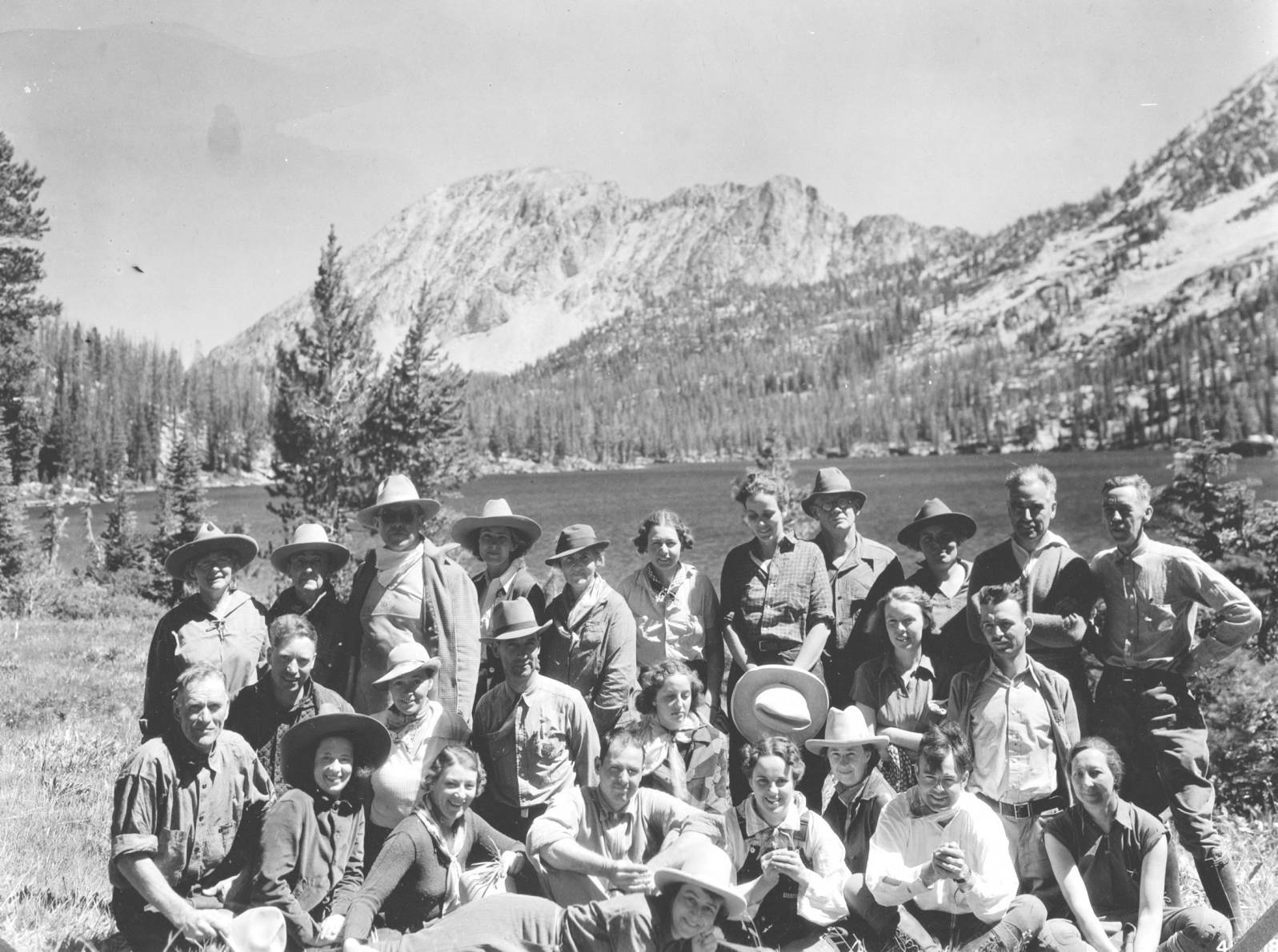 item thumbnail for Men and women of Trail Riders at Alice Lake, Sawtooth Primitive Area