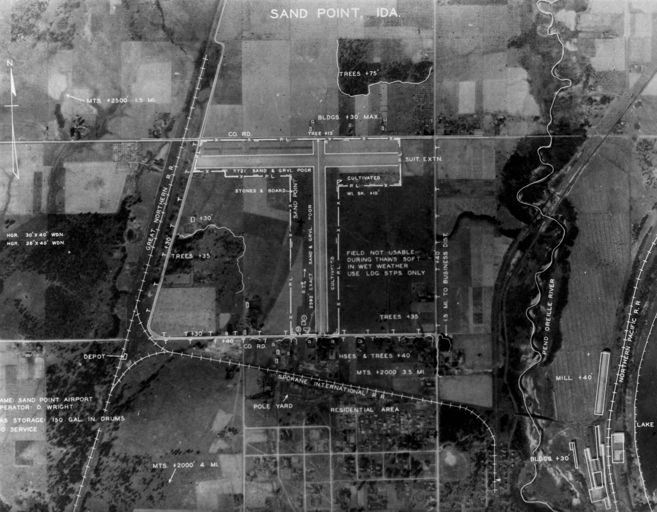 item thumbnail for Aerial survey of Sandpoint Airport site