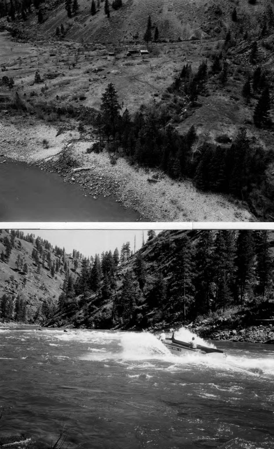 item thumbnail for Forest Service patrol boat at Devil's tooth Rapids, Salmon River