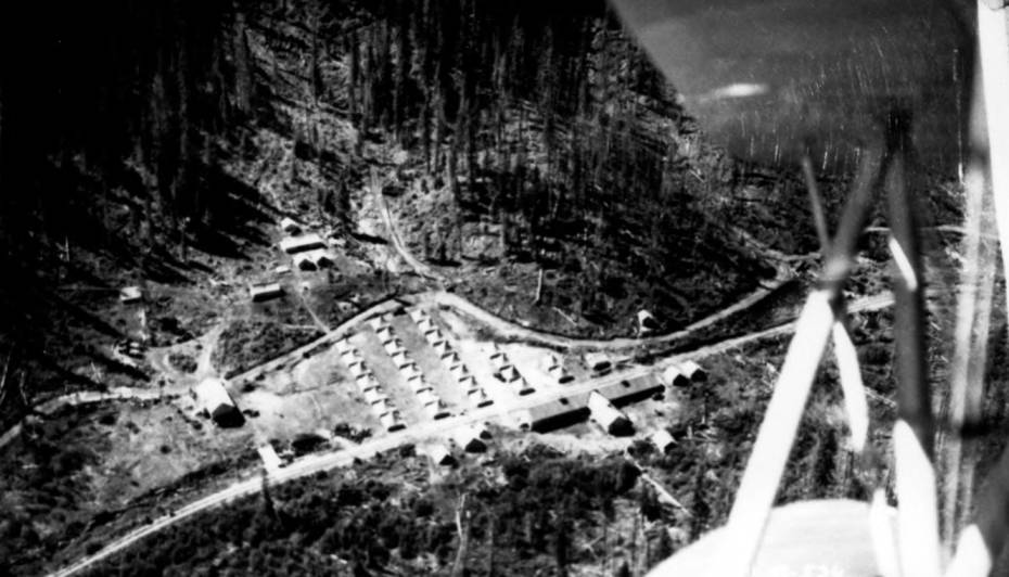 item thumbnail for Aerial image of CCC Camp F-147 near Headquarters