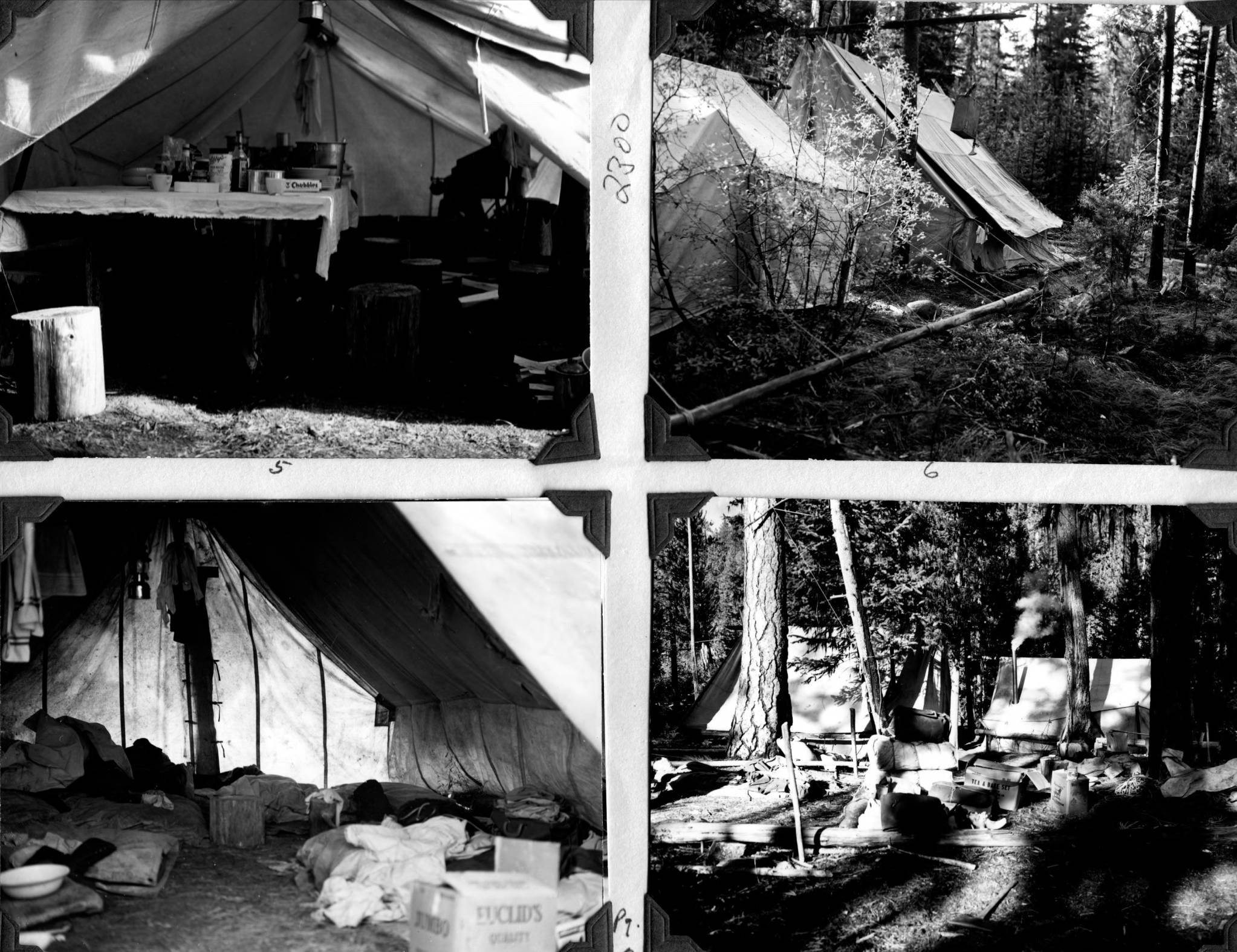 item thumbnail for Forest crew camp setup, Salmon National Forest