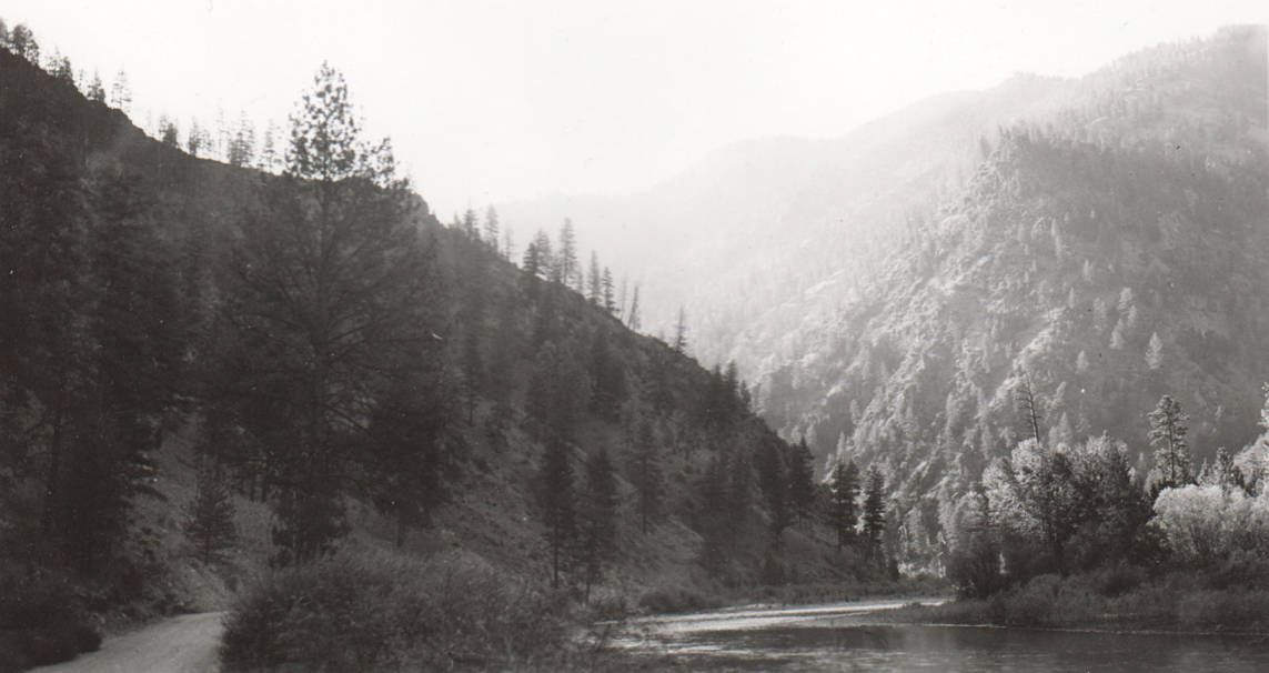 item thumbnail for Indianola Dam site on the Salmon River near Shoup, Idaho