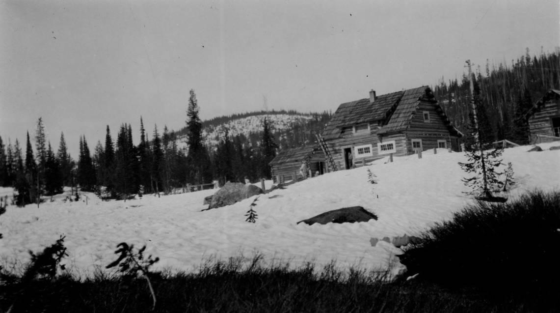 item thumbnail for Elk Summit Ranger Station, snow