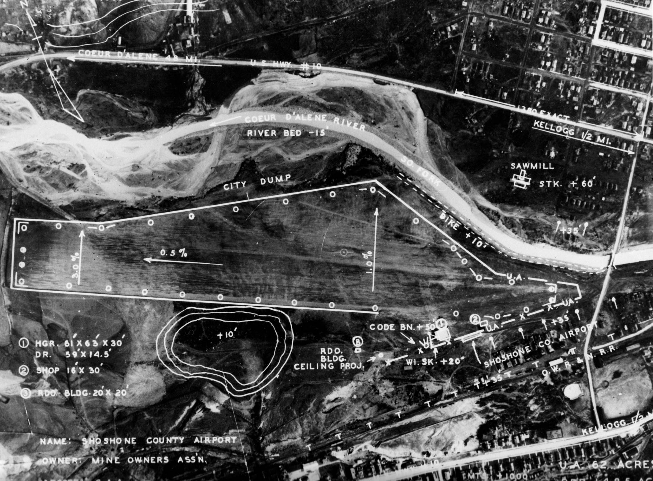 item thumbnail for Aerial survey of Shoshone County Airport
