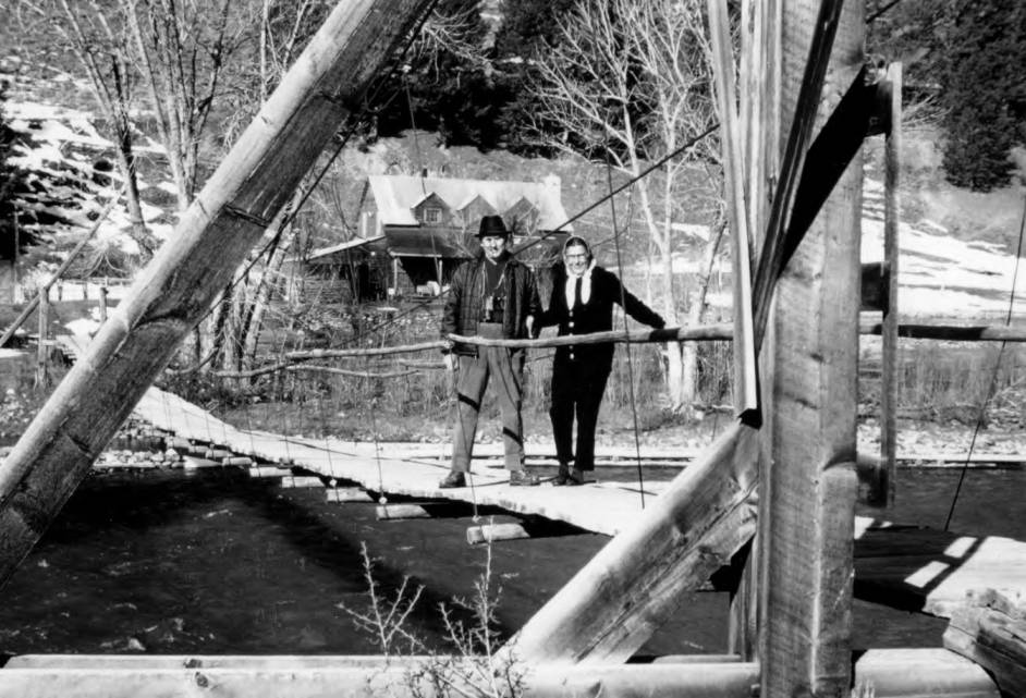 item thumbnail for A photo on the Old Middle Fork Bridge near the Lodge