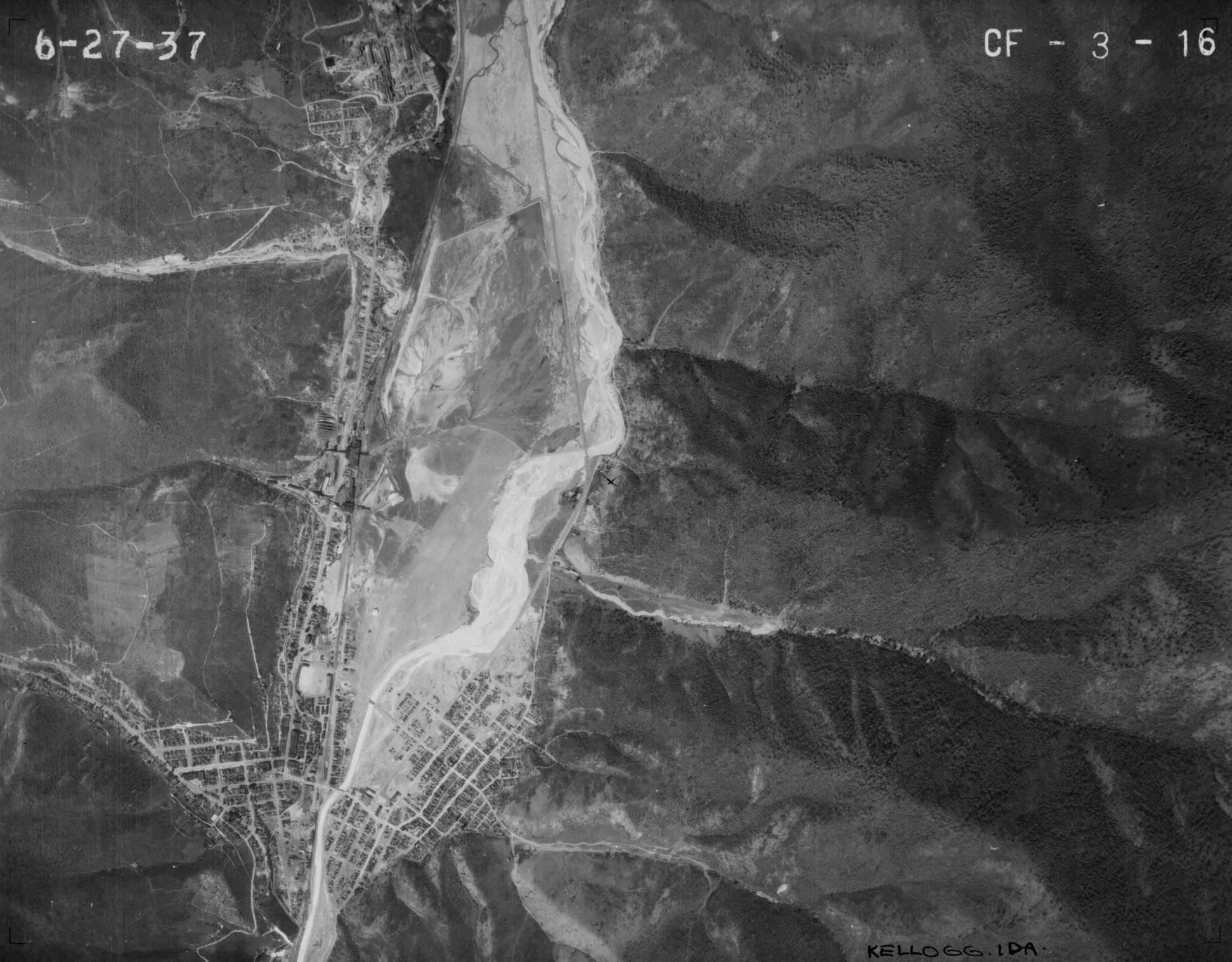 item thumbnail for Kellogg, Idaho, vertical aerial (CF-3-16)